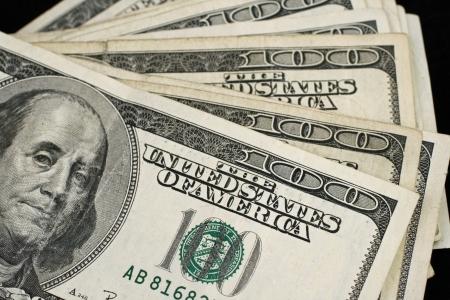 fanned: Fanned American Hundred Dollar Bills