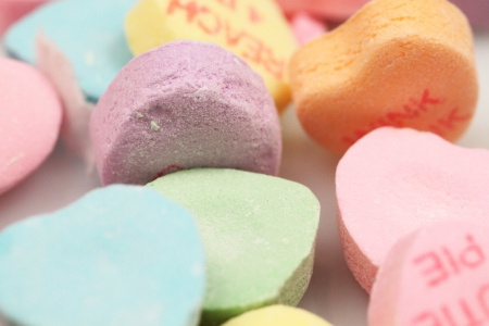 valentine's: Valentine s Day Candy Hearts  Stock Photo