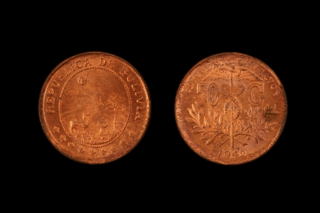 bolivian: Old Bolivian Coin