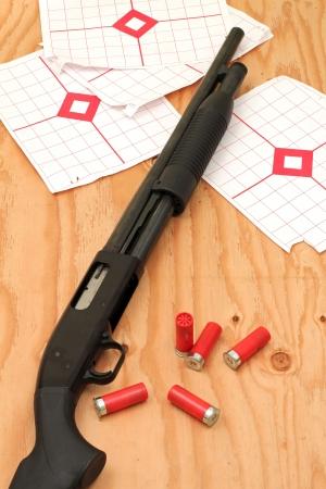 Shotgun Target Practice Archivio Fotografico