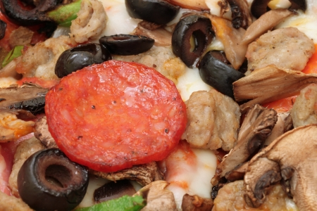 Pizza Toppings Close Up
