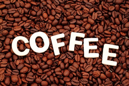 spelled: Coffee Spelled On Coffee Beans