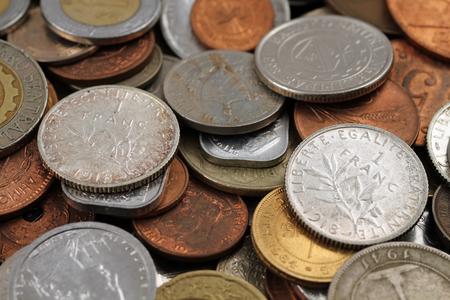 Foreign Coins Close Up Banco de Imagens