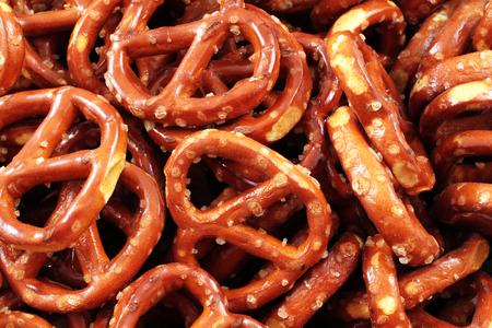 close up: Pretzels Close Up Stock Photo
