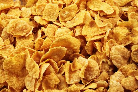 A close up of cornflake breakfast cereal Imagens