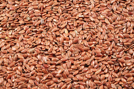 colorectal: A close up image of flax seeds