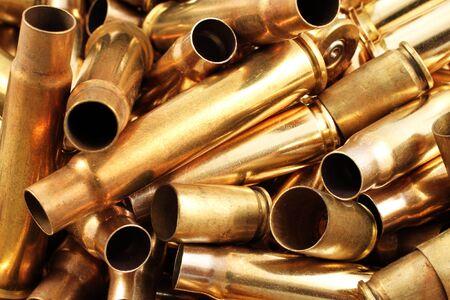casings: Empty Bullet Casings Close Up Stock Photo