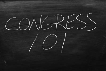 remedial: The words Congress 101 on a blackboard in chalk