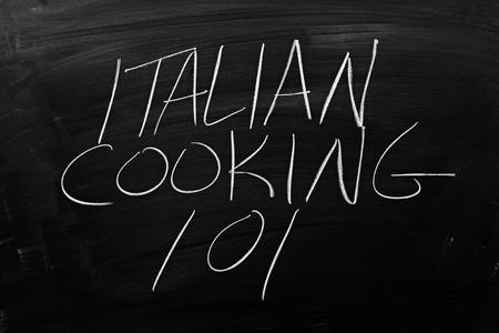 Les Mots Cuisine Italienne 101 Sur Un Tableau A La Craie Banque