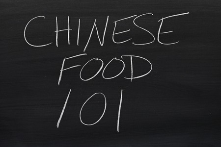 technical university: The words Chinese Food 101 on a blackboard in chalk