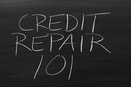 technical university: The words Credit Repair 101 on a blackboard in chalk