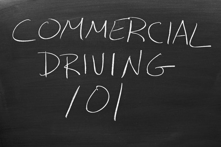 Commercial Driving 101 On A Blackboard