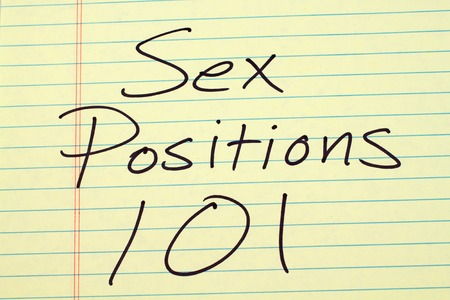 The words Sex Positions 101 on a yellow legal pad