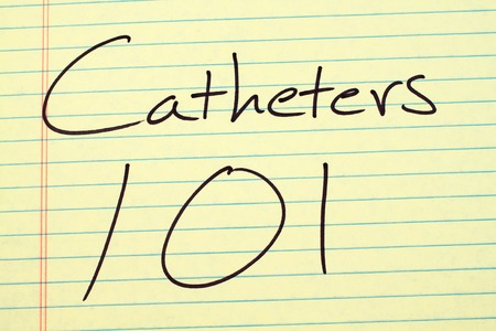 catheters: The words Catheters 101 on a yellow legal pad