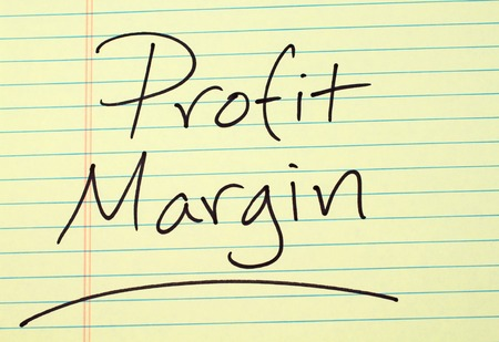 The word Profit Margin underlined on a yellow legal pad Stock fotó