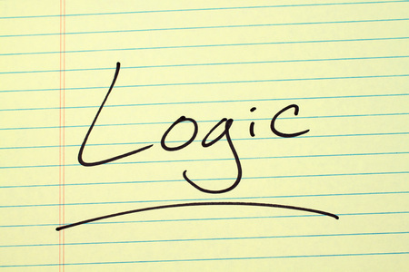 The word Logic underlined on a yellow legal pad Stock fotó