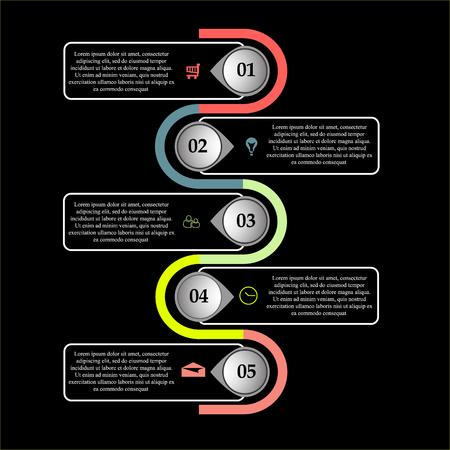 Stock Vektorgrafik abstrakte Business-Infografiken-Vorlage.