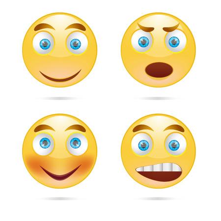 Collectie van glimlachen. Vector illustratie.