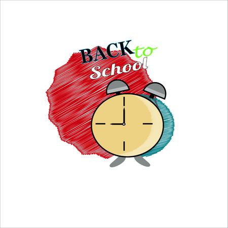 Alarm clock in vector. Ilustração
