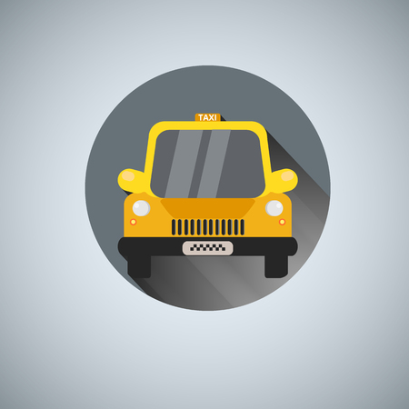 Vector illustration yellow taxi logo