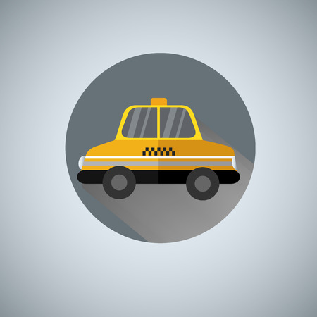 Yellow taxi vector illustration  logo.