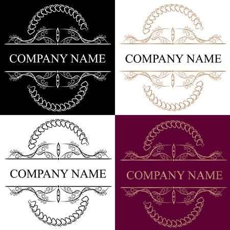 Vintage Insignias or Logotypes set design elements.