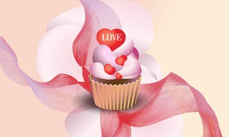 Background yummy cupcake.  Vector illustration. 向量圖像