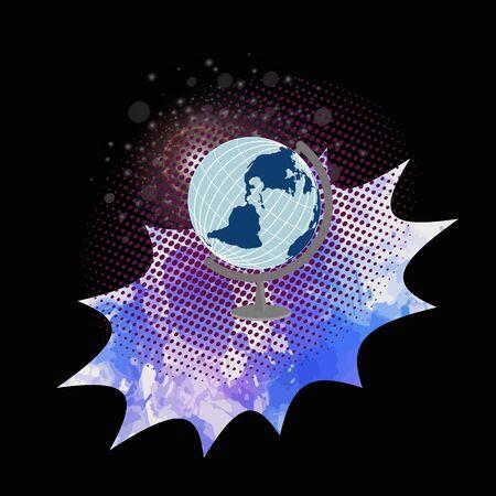 Globe world  isolated on creative background.Vector globe.