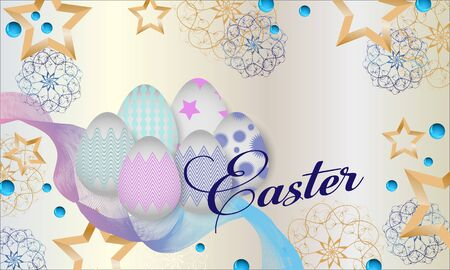 Vector Happy Easter  background design with eggs.Vector illustration.