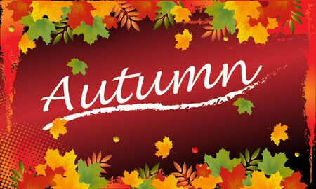 Autumn sale backround with leaves. Can be used for shopping sale, banner, invitation, website or greeting card. Vector illustration Banco de Imagens - 132124842