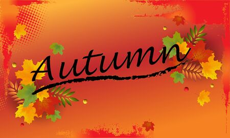 Autumn sale backround with leaves. Can be used for shopping sale, banner, invitation, website or greeting card. Vector illustration