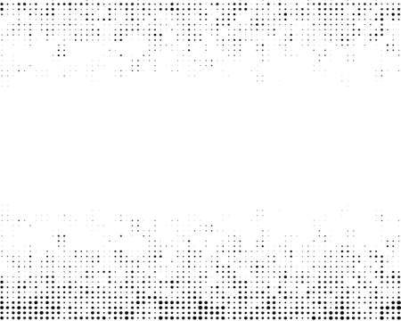 Background with dotted pattern top and bottom.White backdrop with black dots, circles.Vector modern optical pop art texture for posters, business cards, covers, label layout, sticker layout, price tag Stock fotó - 155368016