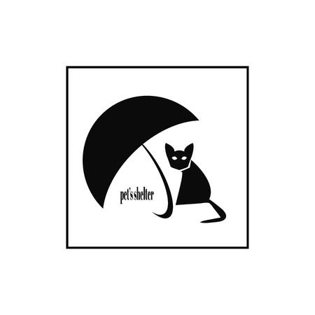 Pets shelter logo design template.