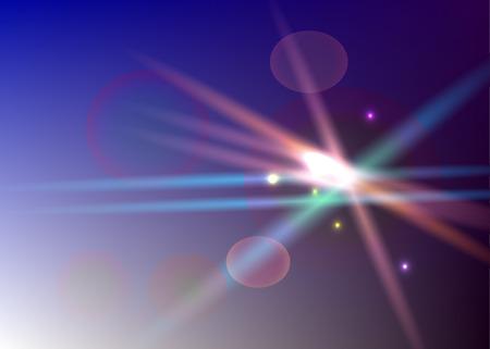 Transparant light series. Glare template with sunrays. Illustration
