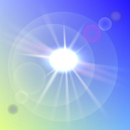 Transparante lichtserie. Verblindingsmal met zonnestralen. Stockfoto - 75144538