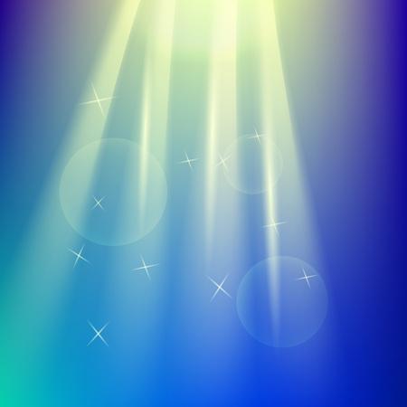 Transparante lichtserie. Verblindingsmal met zonnestralen.