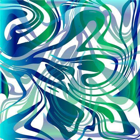Square background with ocean colors with marbled structure.