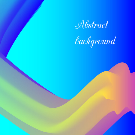 Vector abstract background with 3d colorful wave. Illustration