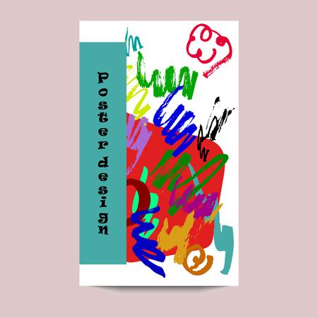An idea for poster, invitation, greeting card, flyer, banner, postcard. Hand drawn brush strokes. Vector illustration. Иллюстрация