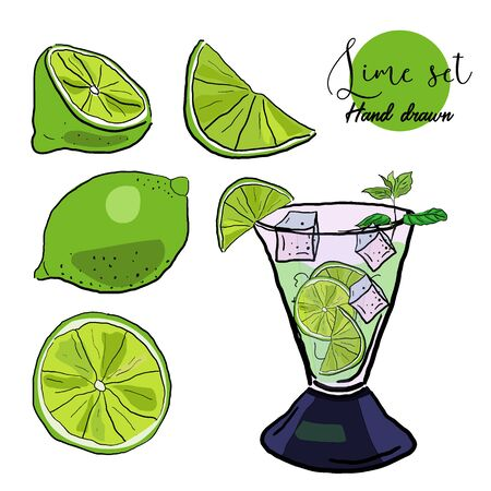 Lime lemonade image illustration