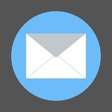 Envelope Mail icon, vector illustration. Flat design style Иллюстрация