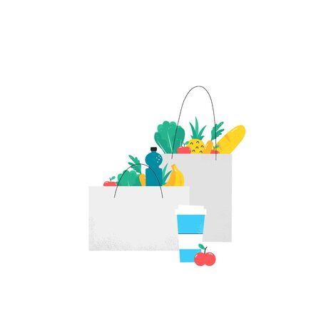 Online shopping illustration. Illustration