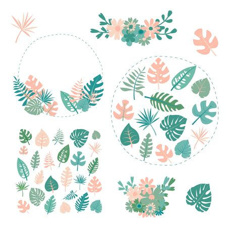 tropical plants vector Vetores