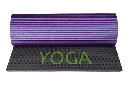 Yoga mat isolated on white background