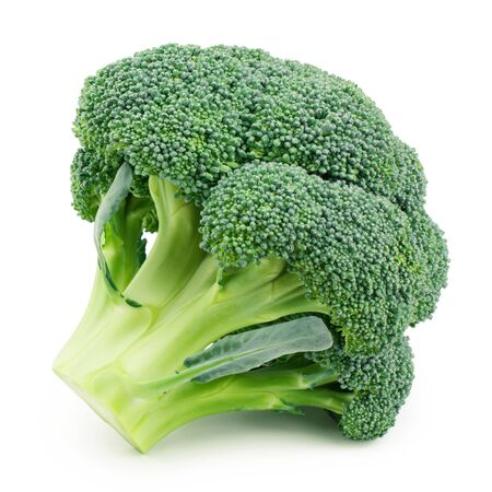 Brokkoli lokalisiert auf weißem Hintergrund