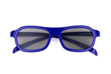 3D-Kinobrille isoliert auf weißem Hintergrund