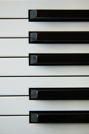 gamma: Note gamma in piano black and white keys closeup  Stock Photo