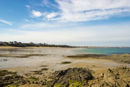 calais: Northern coast of France, the shoreline at low tide