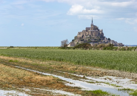 Mont Saint Michel Abbey, Normandy  Brittany, France photo