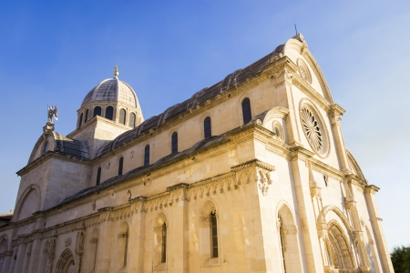 st jamess: St. Jamess cathedral in the city of Sibenik in Dalmatia, Croatia on Adriatic Coast